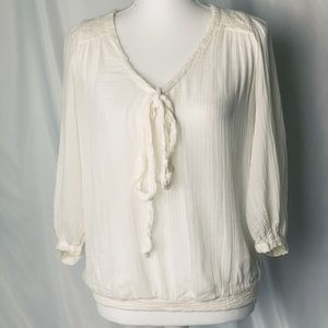 Zara long sleeve boho blouse size small